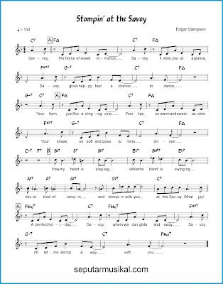 Stompin' at the Savoy chords jazz standar