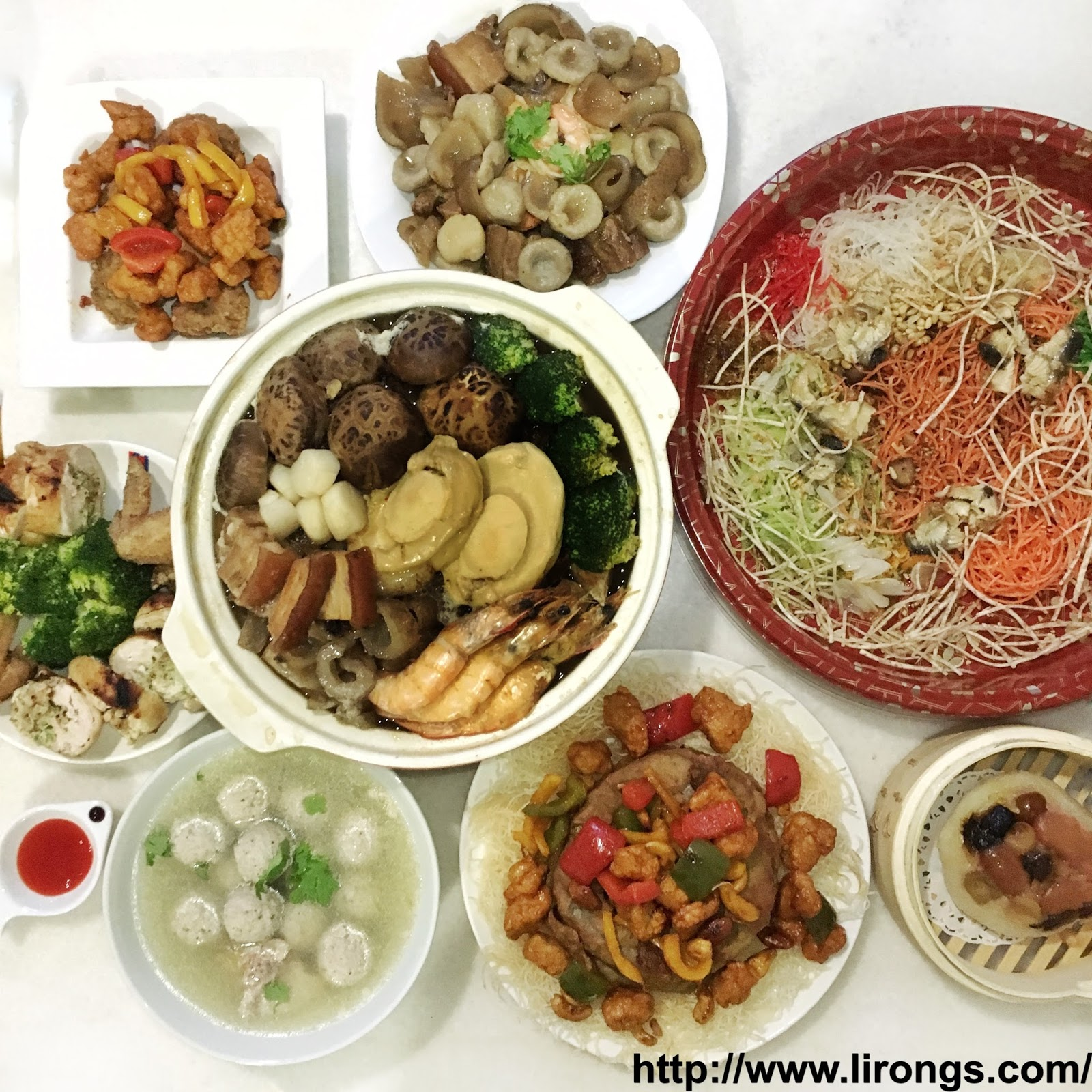 Lirong a singapore food and lifestyle blog happy lunar new year happy lunar new year reunion dinner 2016 recipes included forumfinder Gallery