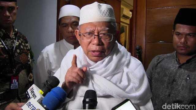 Ma'ruf Amin: Yang Ngajak Ulama cuma Pak Jokowi, yang Lain Malah Enggak