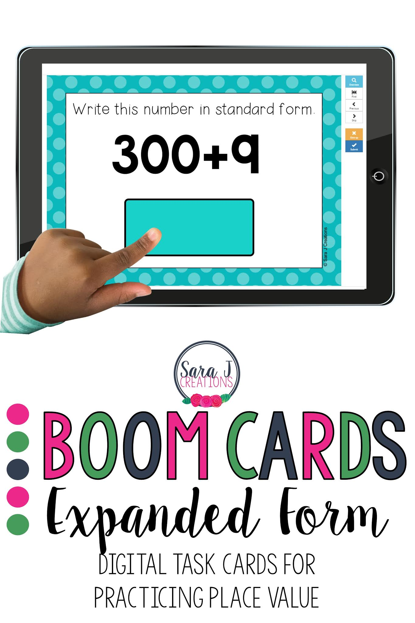 Digital task cards (Boom Cards) make teaching place value and expanded form more fun and engaging. Self checking, no prep cards make it perfect for a busy teacher.