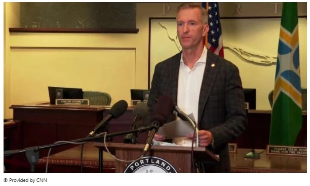 """Portland Mayor Ted Wheeler said in a confrontation with President Donald Trump: """"You have created hatred."""""""