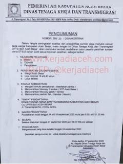 Pelatihan BLK Aceh Besar 2020
