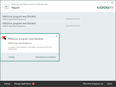 Detect Ransomware with Kaspersky Tool