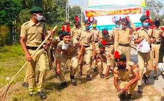 NCC कैडेटों ने निकाली स्वच्छता जागरूकता रैली | #NayaSaberaNetwork