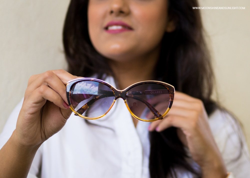 classic cat eye sunglass close up, fashion blogger bangalore