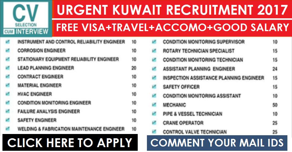 Urgent Walkin-in Recruitment in Kuwait: Apply NOW | All Gulf Vacancy