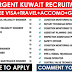 Urgent Walkin-in Recruitment in Kuwait: Apply NOW