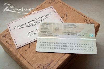 Visitenkarte und Ausweis | www.zeitunschaerfe.de