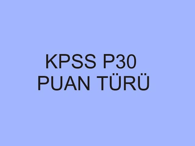 kpss p30 puan türü