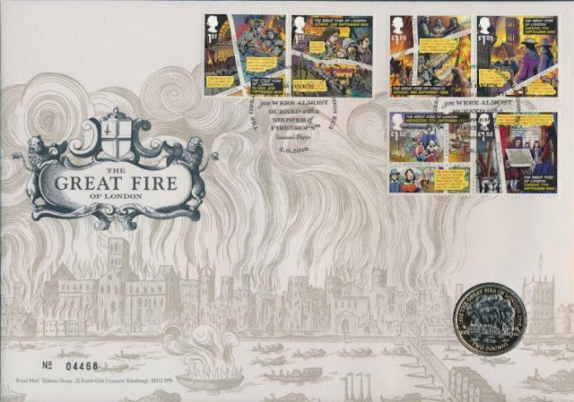 UK 2016 The Great Fire Of London Stamp Set FDC