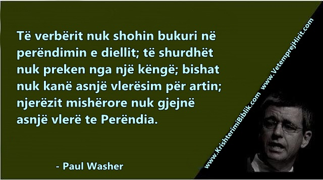 Paul washer shqip, verberia shpirterore,
