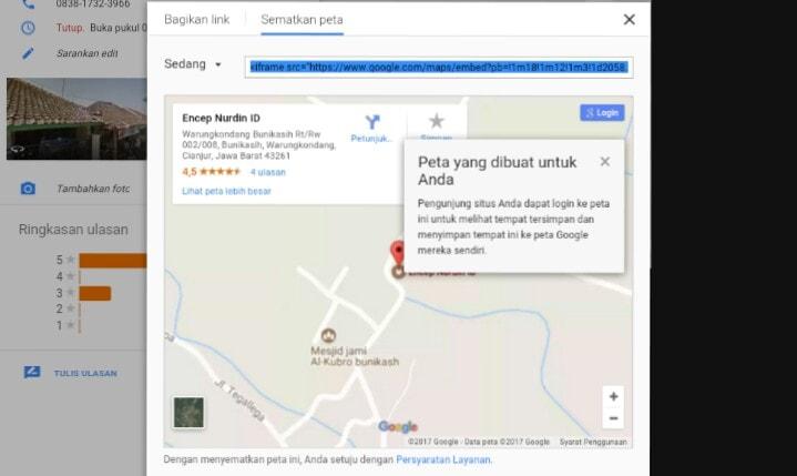Menampilkan Google Maps Di Blog AMP