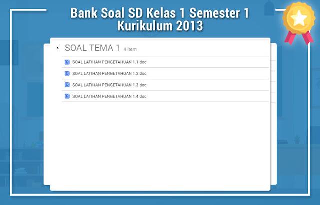 Bank Soal SD Kelas 1 Semester 1