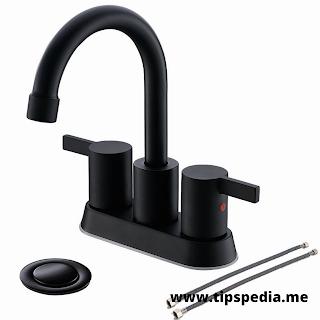 black matte faucet bathroom
