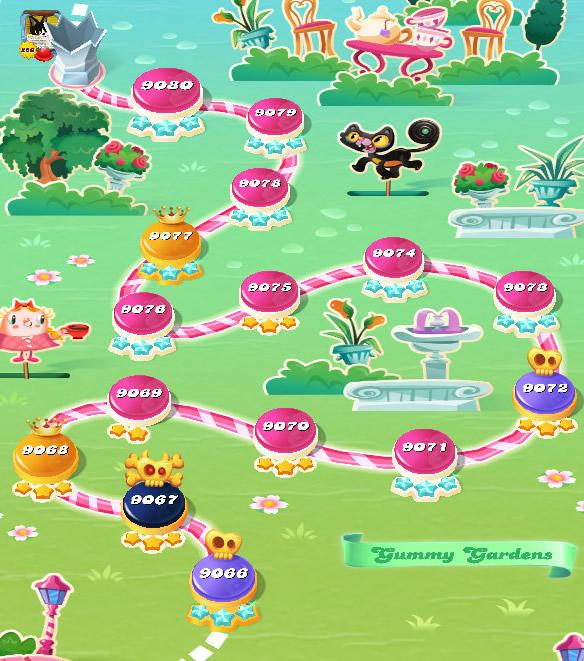 Candy Crush Saga level 9066-9080