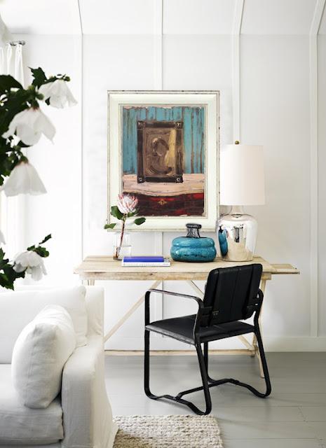 Decorar despacho con obras de arte cuadro de Sixte Blasco