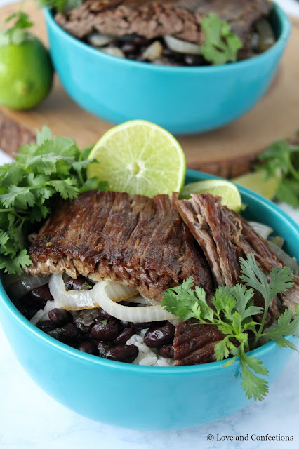 Vaca Frita Rice Bowl by LoveandConfections.com #SundaySupper