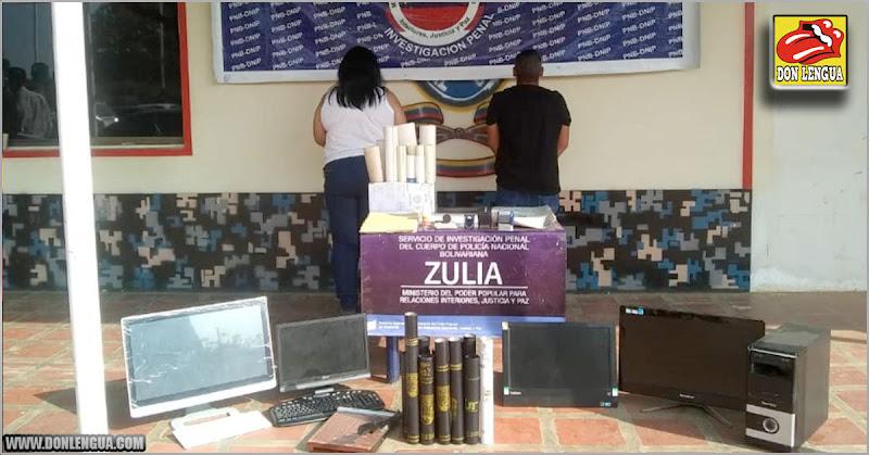 Pareja detenida por falsificar Títulos Universitarios en el Zulia