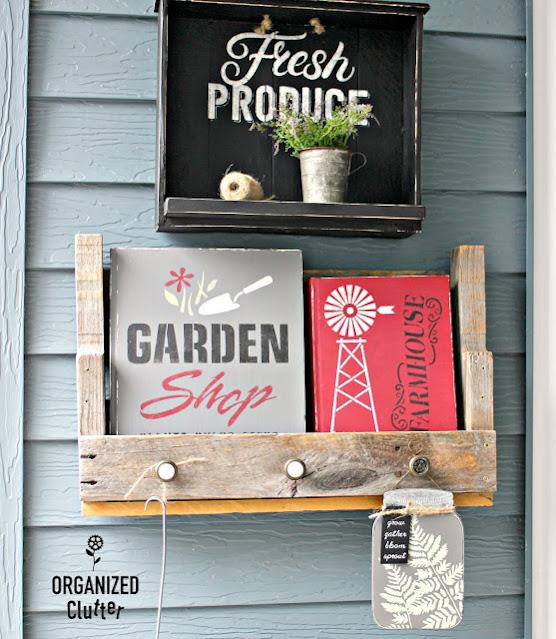 Photo of a decorated garden book and farmhouse book