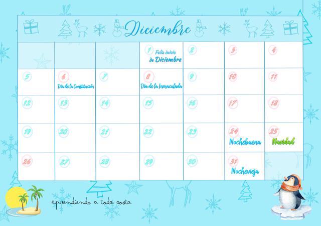 Calendario de Diciembre