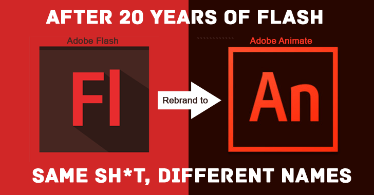 Adobe to kill 'FLASH', but by Renaming it as 'Adobe Animate CC'