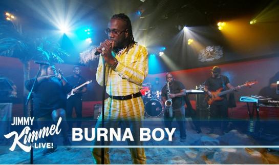 Burna Boy Performs on Jimmy Kimmel Live
