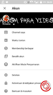 Pertama untuk menghapus riwayat penelusuran dan riwayat tontonan silakan kalian buka aplikasi YouTube nya dan pilih profil dan pilih Setelan