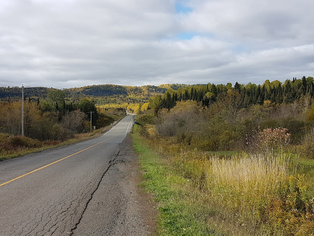country road near Hacquoil Rd. slate River, On