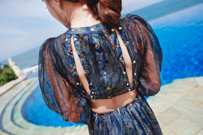 Váy maxi đi biển V465