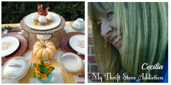 fall tablescape in the garden