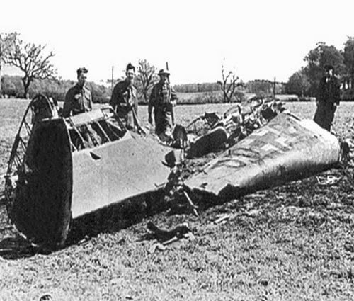 Wreckage of the Rudolf Hess plane worldwartwo.filminspector.com