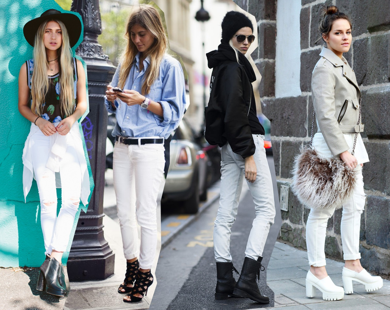 Ways To Wear White Jeans Outfits Street Style