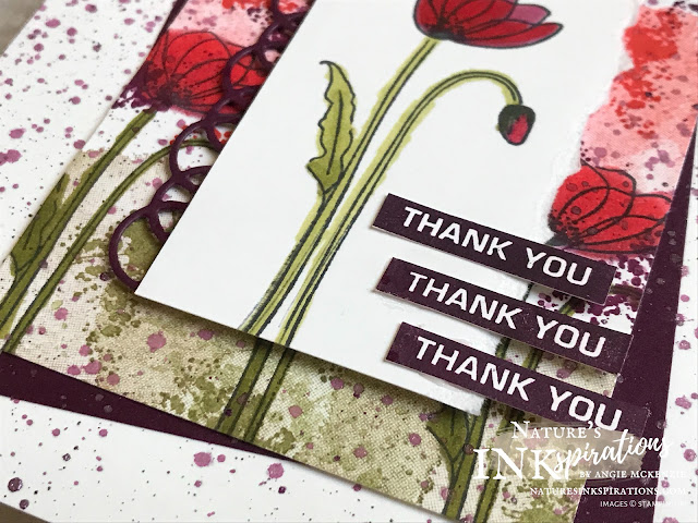 By Angie McKenzie for Kylie's Demonstrator Training Monthly Team Blog Hop; Click READ or VISIT to go to my blog for details! Featuring the Painted Poppies bundle along with the Label Me Bold and A Big Thank You stamp sets by Stampin' Up!; #handmadecards #naturesinkspirations #stationerybyangie  #kyliesdemonstratortrainingmonthlyteambloghop #thankyoucards #custombackgrounds #customartistrypaper #paintedpoppiesbundle #paintedpoppiesstampset #paintedlabelsdies #abigthankyoustampset #labelmeboldstampset #stampinup #cardtechniques #stampingtechniques #makingotherssmileonecreationatatime