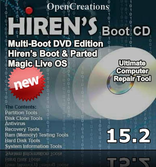 تحميل اسطوانة عملاك الصيانةHirens BootCD 15.2