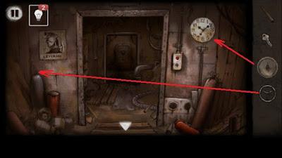 откручиваем вентиль и шестеренку от часов в игре выход из заброшенной шахты