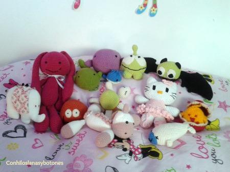 Conhiloslanasybotones - Colección de muñecos amigurumi