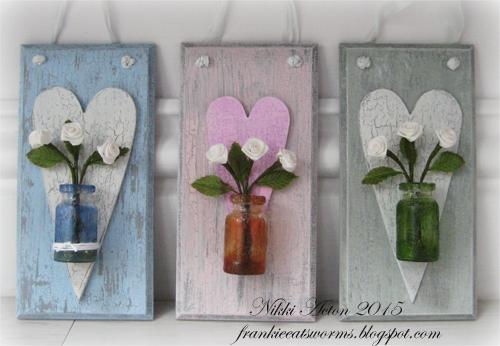 Addicted to Art Shabby Chic Wall Hanging