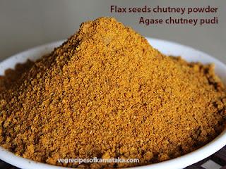 Agase chutney pudi recipe in Kannada