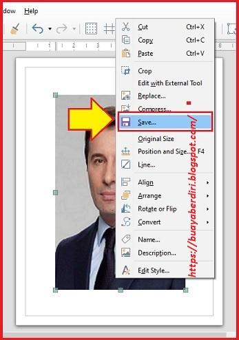 Save Gambar JPG di Libre Office Drawing