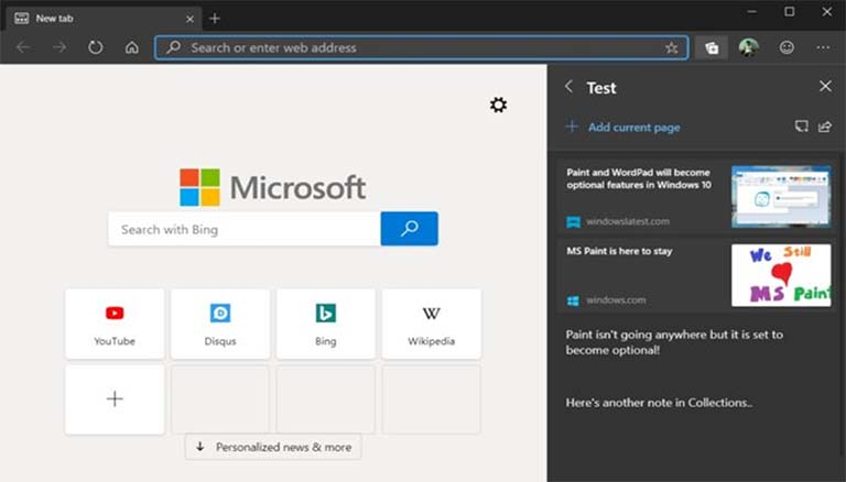 Microsoft Edge Kini Mendapatkan Fitur Collection Pada Windows 10