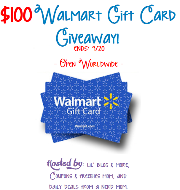$100 Walmart Gift Card Giveaway (ends 9/20)