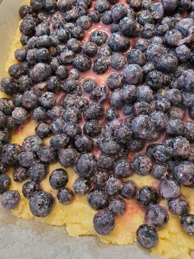 this is blueberry layer on top of crust for bar cookies