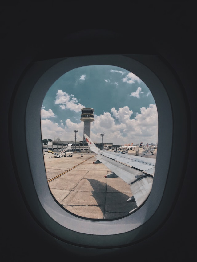 Airplane window for domestic travel