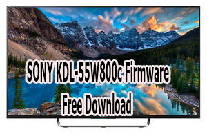 SONY KDL-55W800c Firmware Free Download
