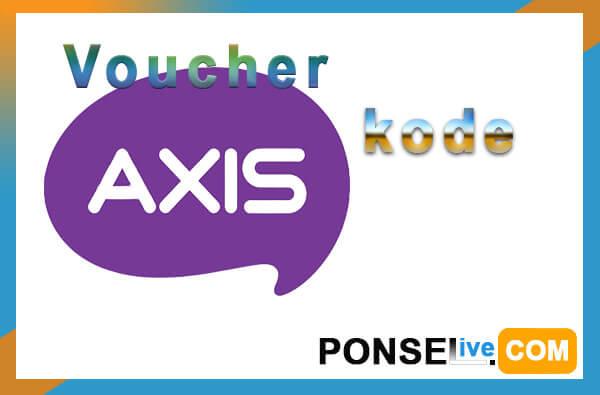 cara masukan kode voucher axis aigo
