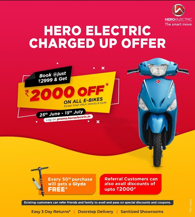 Hero eletric launch new offer called 'Be a Bike Buddy'