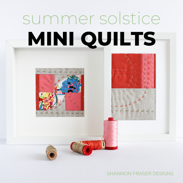 Summer Solstice Mini Art Quilts | Shannon Fraser Designs