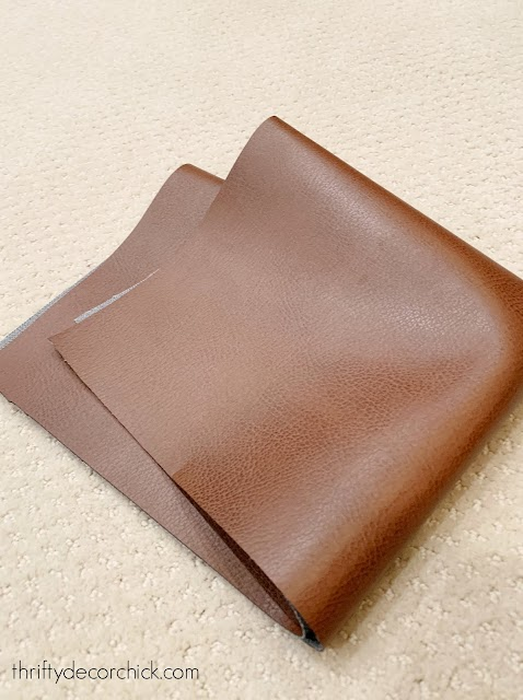 faux brown leather
