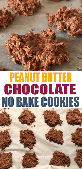 PEANUT BUTTER CHOCOLATE #NOBAKE #COOKIES