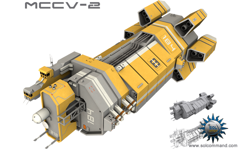 space ship mining command control spacecraft administration mother base industrial asteroid reprocessing transport hauler futuristic scifi 3d model free download